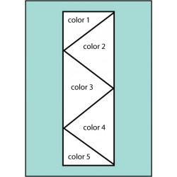 Five Color Zig Zag Flag