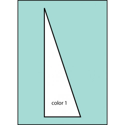 F129 Solid Color Pennant Drape Flag