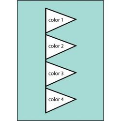 F139 Four Color Pennant Drape Flag