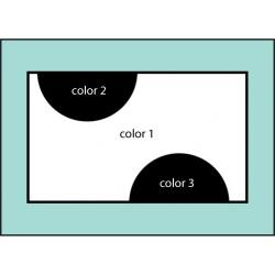 F152 Three Color Two Dot Flag