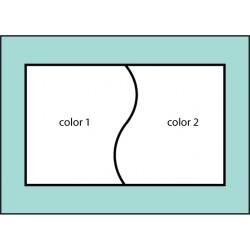 Two Color Curve Flag