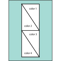 Four Color Stack Diagonal Drape Flag