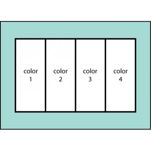 Four Color Vertical Flag