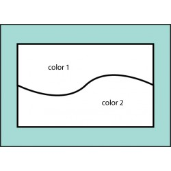 Two Color Horizontal Curve Flag