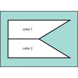 F189 Two Color Castle Flag