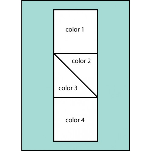 Four Color Middle Diagonal Drape Flag