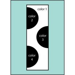 Three Color Dot Drape Flag