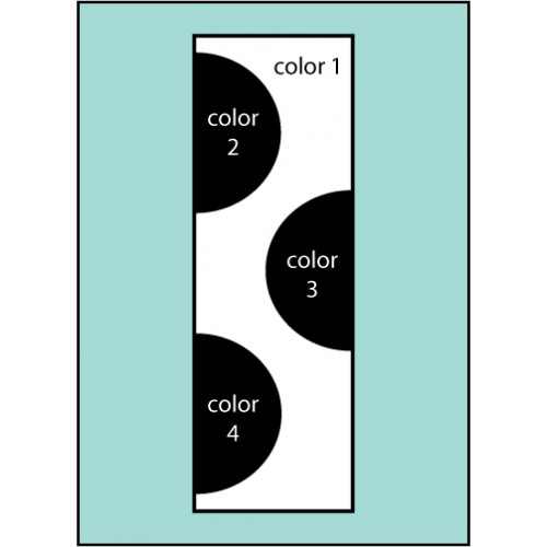 F197 Three Color Dot Drape Flag