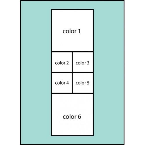 Six Color Squares Flag
