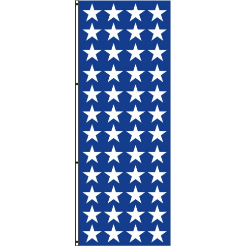 Navy Blue With White Stars Flag