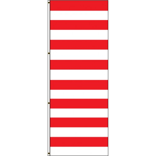 Red and White Stripe Flag