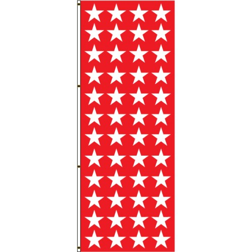 Red with White Stars Flag
