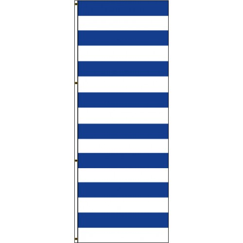 Navy Blue and White Stripes Flag