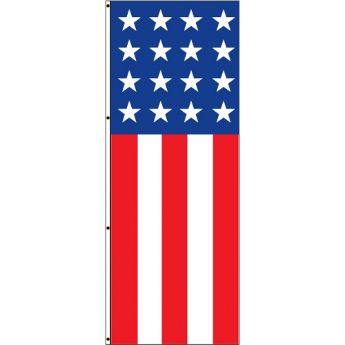 Vertical Stars and Stripes Flag