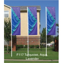 F117 Three Color Chevron Drape Flag