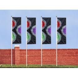F119 Six Color Double Dot Drape Flag
