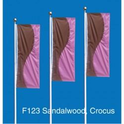 F123 Two Color Curve Drape Flag