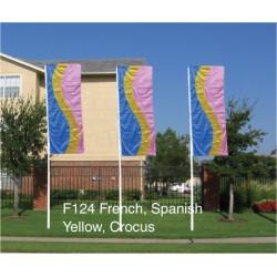 F124 Three Color Curve Drape Flag