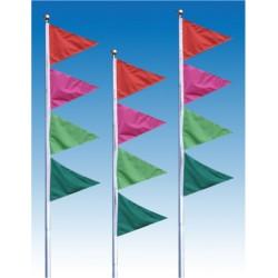 Four Color Pennant Drape Flag