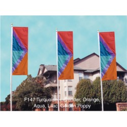 Six Color Double Chevron Drape Flag
