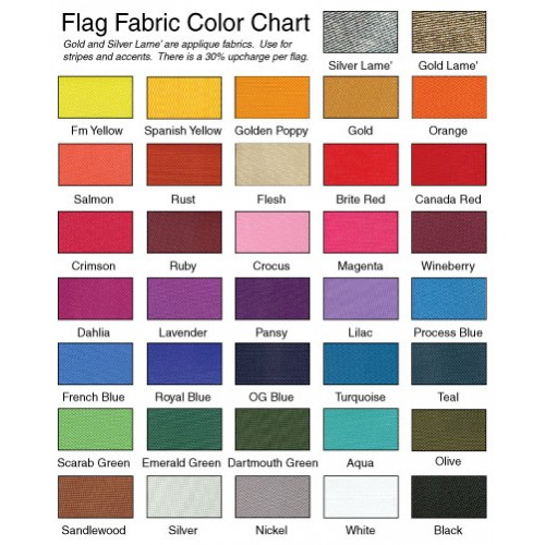 one color drape flag
