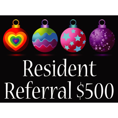 Holiday Referral Sign