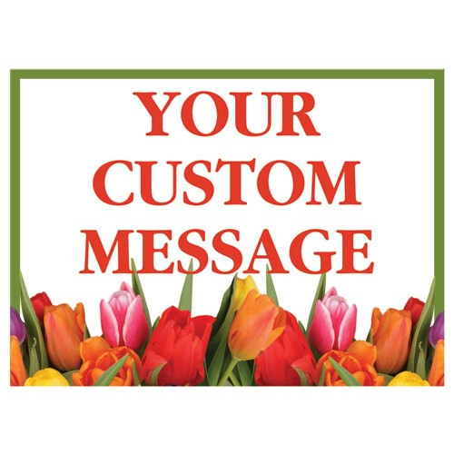Bouquet Custom Horizontal Sign
