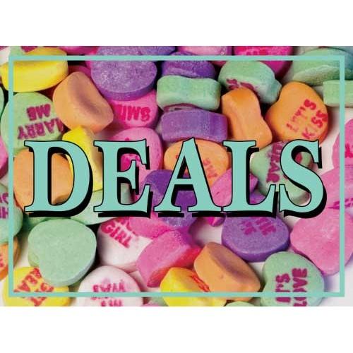 Valentine Candy Deals Sign