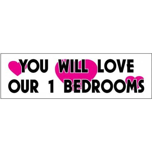Love 1 Bedroom Banner