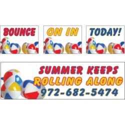 Beach Ball Banner