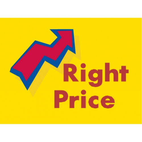 Arrow Right Price Sign