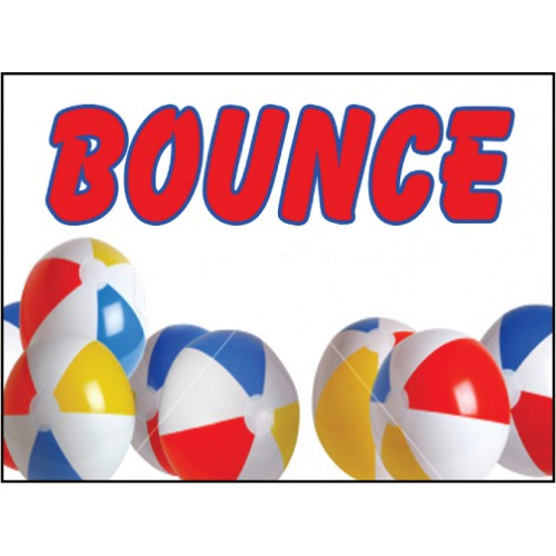 Beach Ball Bounce Sign