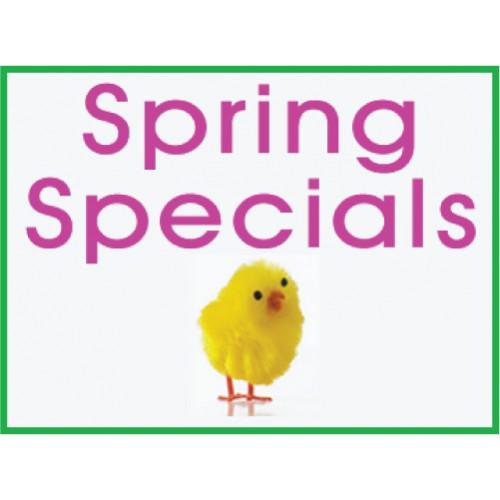 Spring Specials Sign