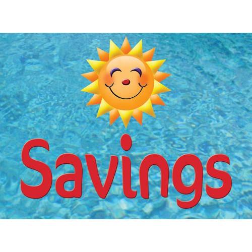 Splash In Savings Sign