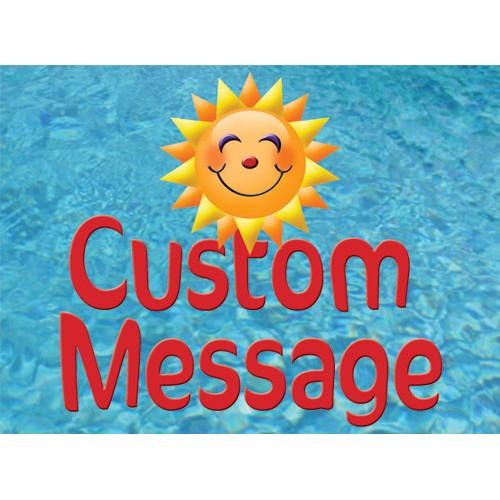 Splash In Custom Sign