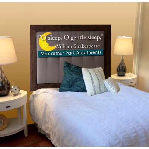 Graphic Headboard Frame
