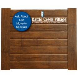 Wood Look Headboard Graphic
