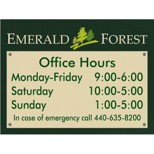 Designer Office Hours Plaque