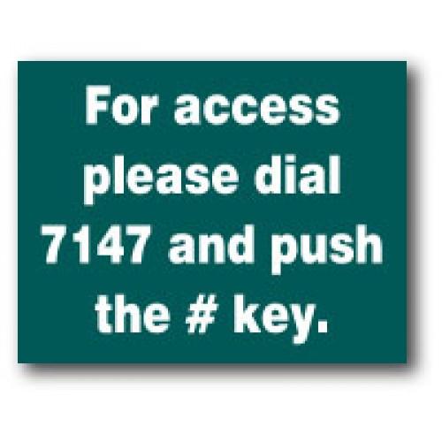 Acrylic Keypad Sign