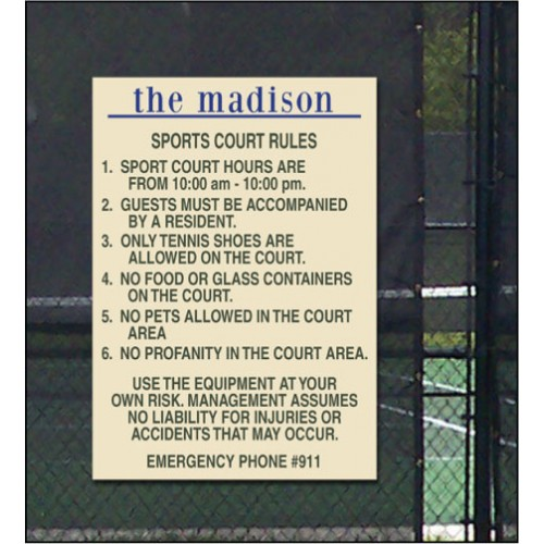 Custom Sport Court Rules