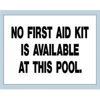 No First Aid Kit Sign
