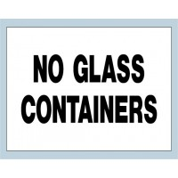 No Glass Containers Sign