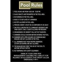 Custom Pool Rules Sign