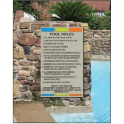 Pool and Other Rules Signs