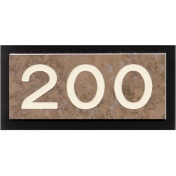 Artisan Door Number Sign