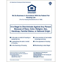 Fair Housing Sign