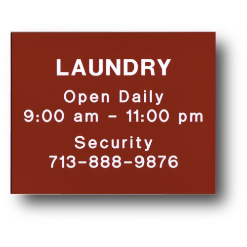 Laundry Hours Sign