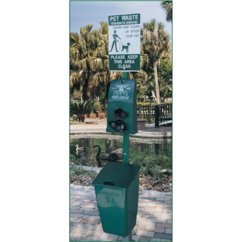Pet Station with Polyethene Receptacle