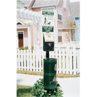 Pet Station with Aluminum Receptacle
