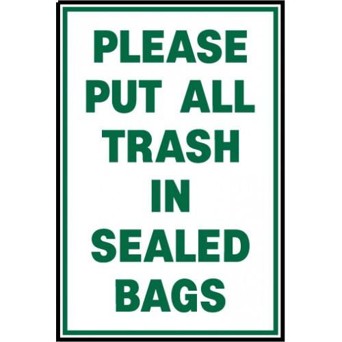 Trash Bag Sign